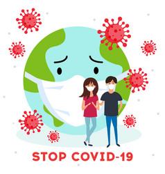 novel coronavirus 2019-ncov virus covid19 19-ncp vector image
