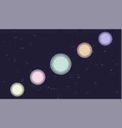 planet in a starry sky vector image