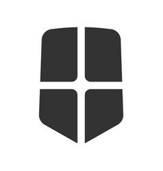 Protection shield icon vector