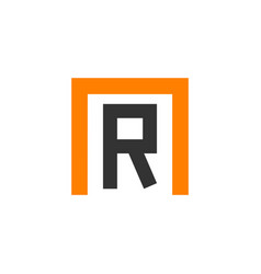 R logo template design vector