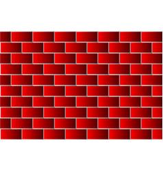 red bricks - pattern vector image