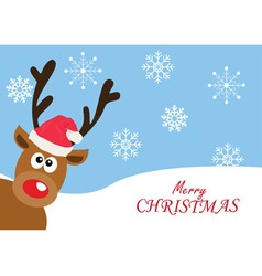 red nose deer Christmas vector image