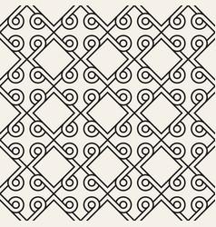 seamless geometric interlacing lines pattern vector image