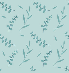 seamless pattern eucalyptus palm fern vector image