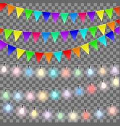 set of decorations vector image