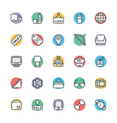 Shopping Cool Icons 3 vector image