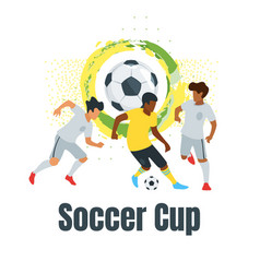 soccer championship design element vector image