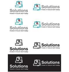 Solution business logos vector