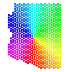spectrum hexagon arizona state map vector image
