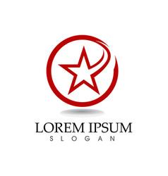 Star logo template vector