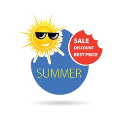 summer best price color vector image