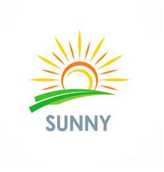 sun solar sunny logo vector image