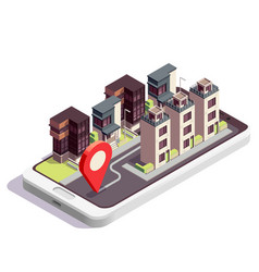 town house location composition vector image