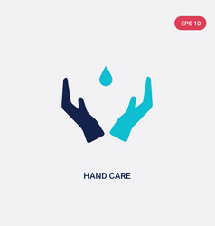 two color hand care icon from education concept vector image