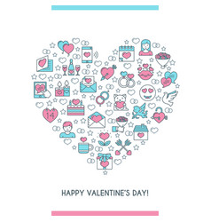 valentines day banner 2 vector image