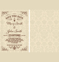 vintage save date template layered vector image