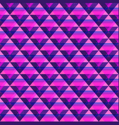 violet triangle seamless pattern vector image