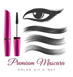 Woman black mascara vector image