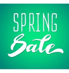 Words spring sale brush lettering vector image