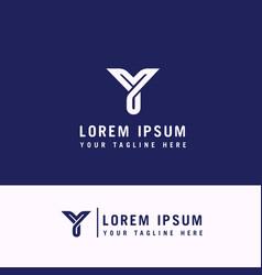 y letter logo y minimalist logo y line logo vector image