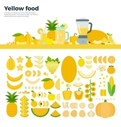 Yellow healthy food on the table vector image