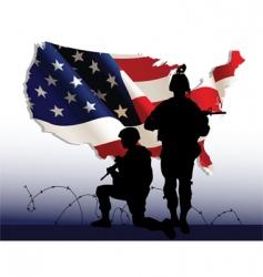 American soldiers vector image vector image