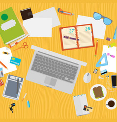 art creative office workplace vector image