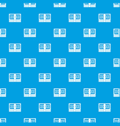 bundle of money pattern seamless blue vector image vector image