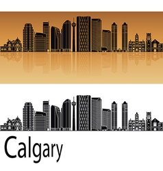 Calgary V2 skyline in orange vector image