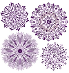 Collection new snowflakes vector image vector image