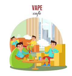 colorful vape cafe concept vector image vector image