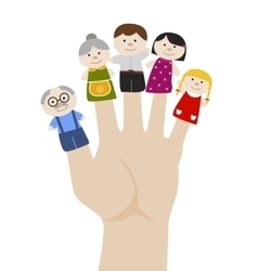 Family finger puppets vector image vector image