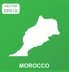 morocco map icon business concept morocco vector image