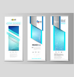 roll up banner stands geometric design templates vector image vector image