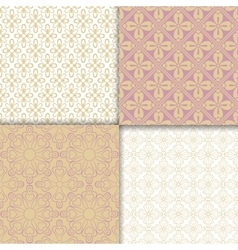 Romantic style light colors pattern set vector image vector image