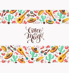 viva mexico poster vector image vector image