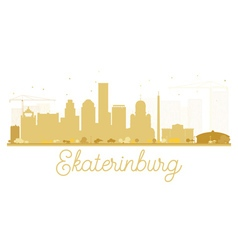 Yekaterinburg City skyline golden silhouette vector image vector image