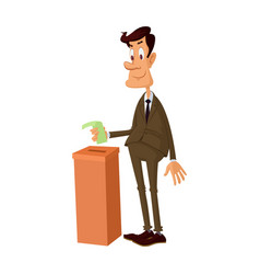 young man voting vector image