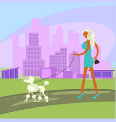 dog and owner look alike vector image vector image