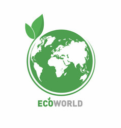 ecology logo eco world symbol icon eco friendly vector image vector image