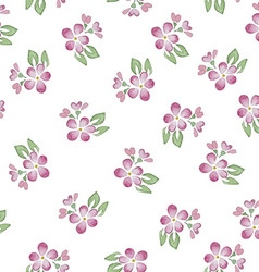 Seamless Patterns with watercolor flowers vector image vector image