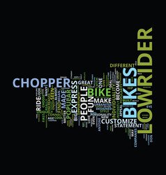 The increased popular of chopper lowrider bikes vector