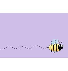 Bee flight background vector image vector image