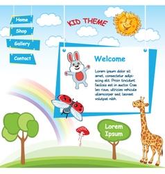 Cartoon kid template vector image vector image