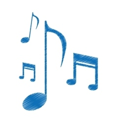 drawing music note sound melody symbol vector image