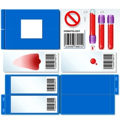 Hematology Test Complete Set vector image