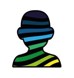 human head design vector image vector image
