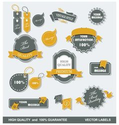 labels retro 1 vector image vector image