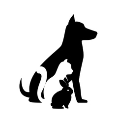 Mascots silhouettes isolated icon vector