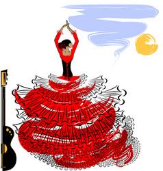 Abstract image of flamenco girl vector